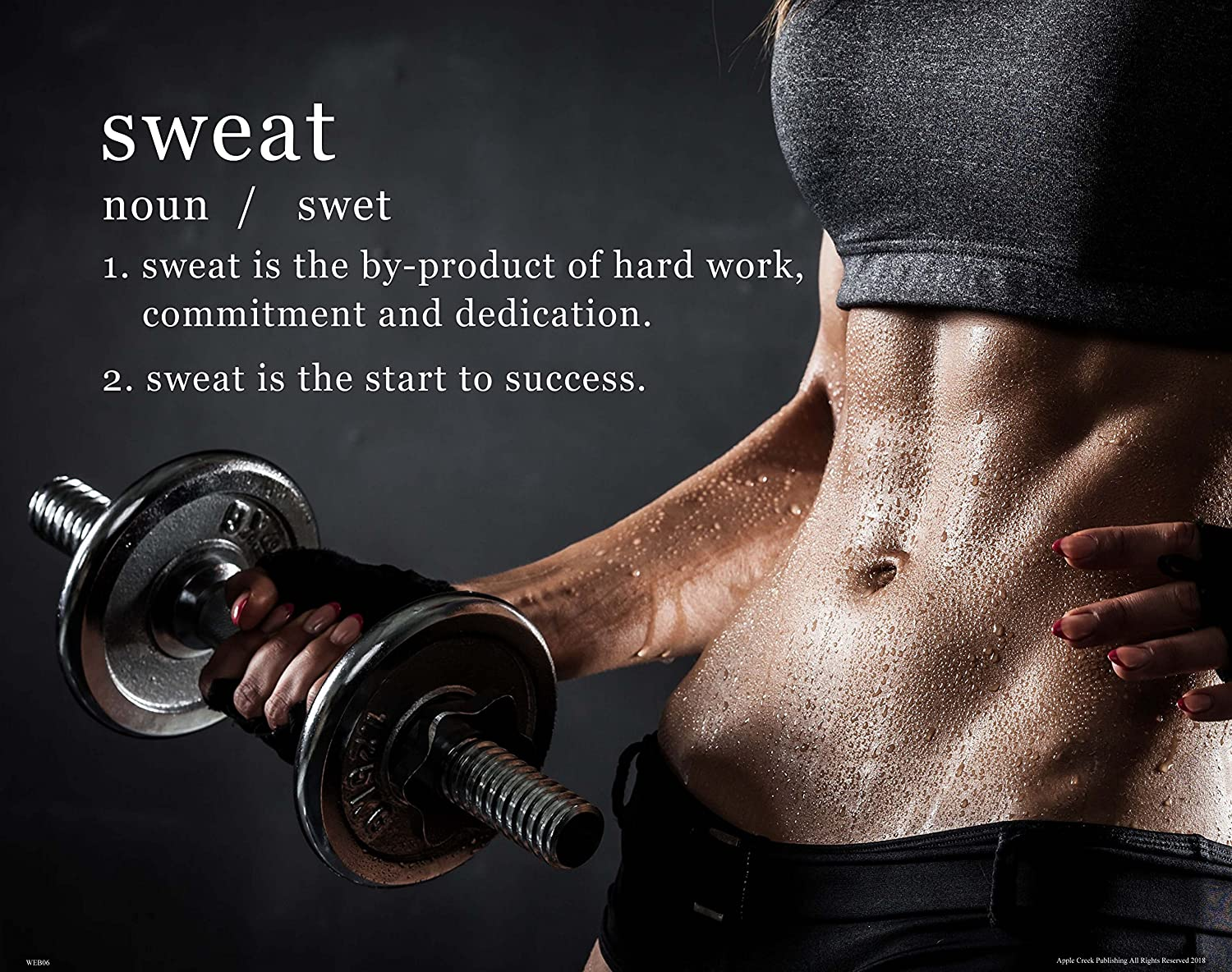 Sweat Workout Motivational Poster Art Print Weights Women/'s Pants Shorts WEB06