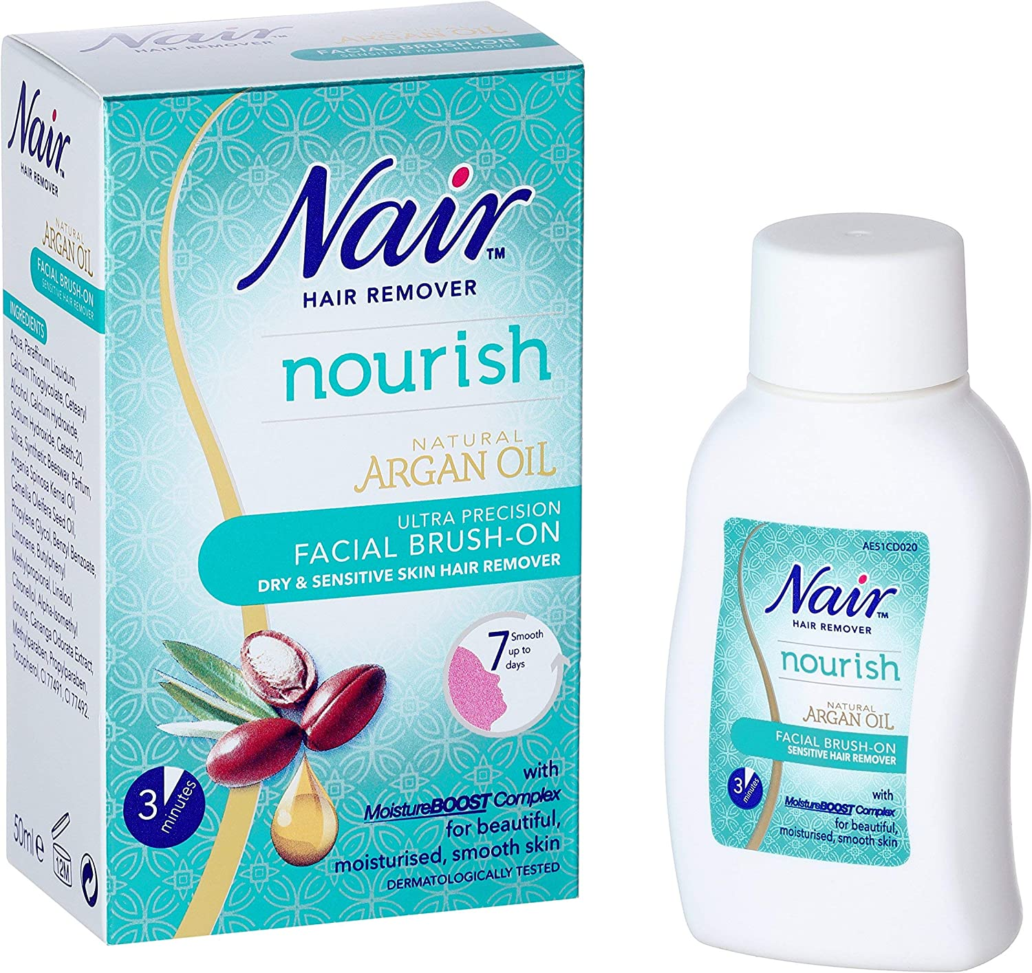 Nair Nourish Facial Brush On Hair Remover Ultra Precision