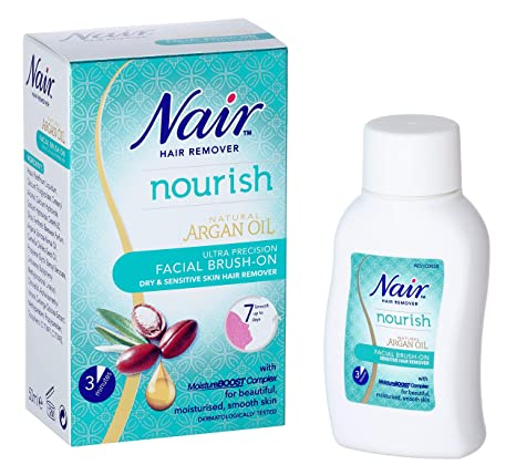 Nair Brush-sensible en el removedor del pelo, facial 50ml