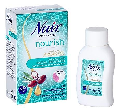 Nair Brush-sensible en el removedor del pelo, facial 50ml