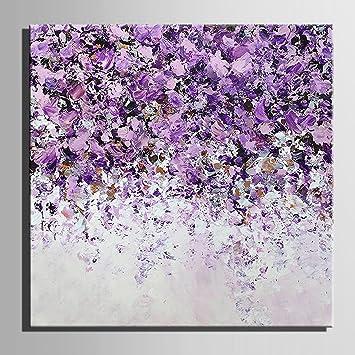 Lila - Garten 100%Peinture à l\'huile Wall Art Decor Un dessin ...