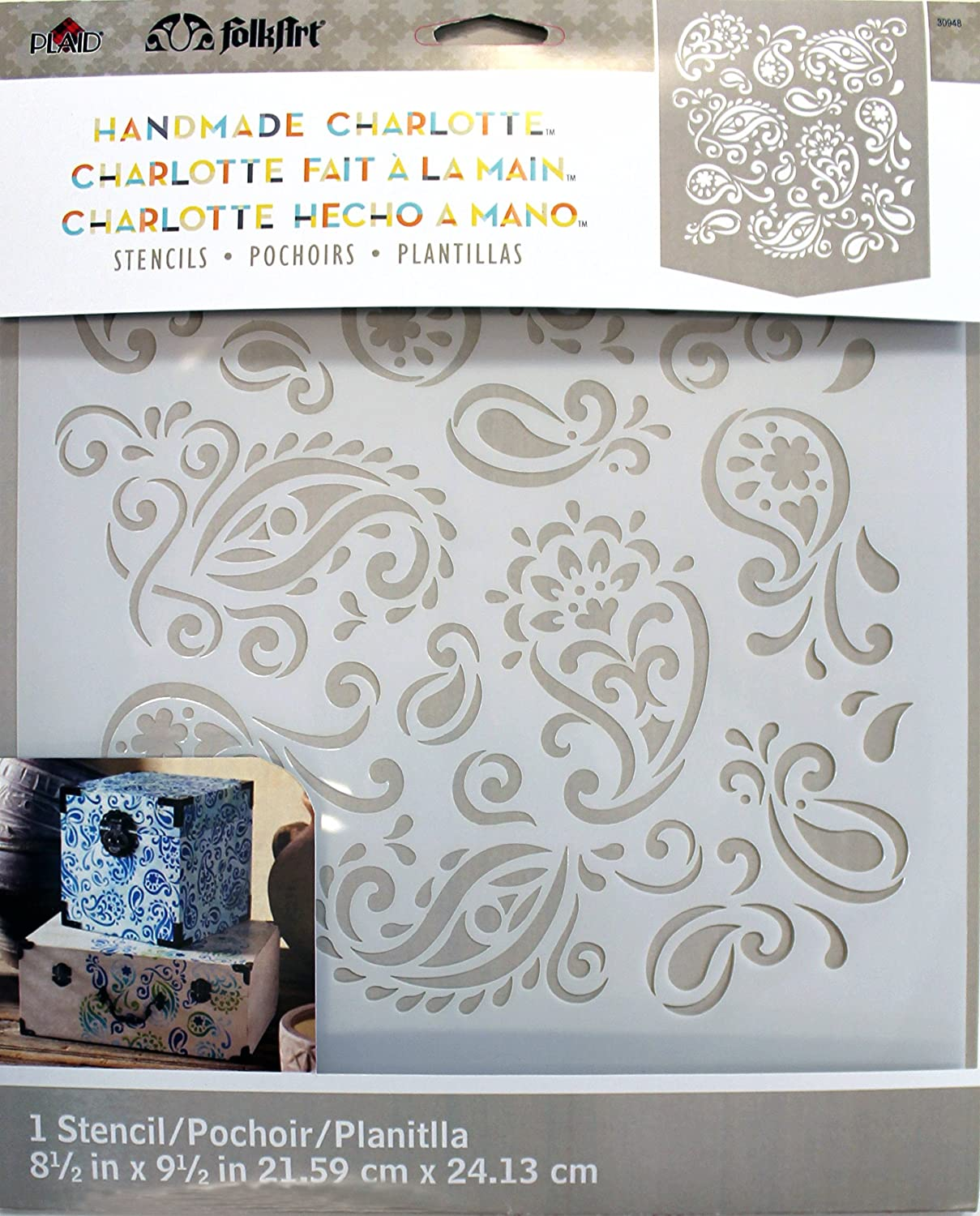 Amazon folkart laser cut painting stencil 30948 paisley delight amipublicfo Image collections