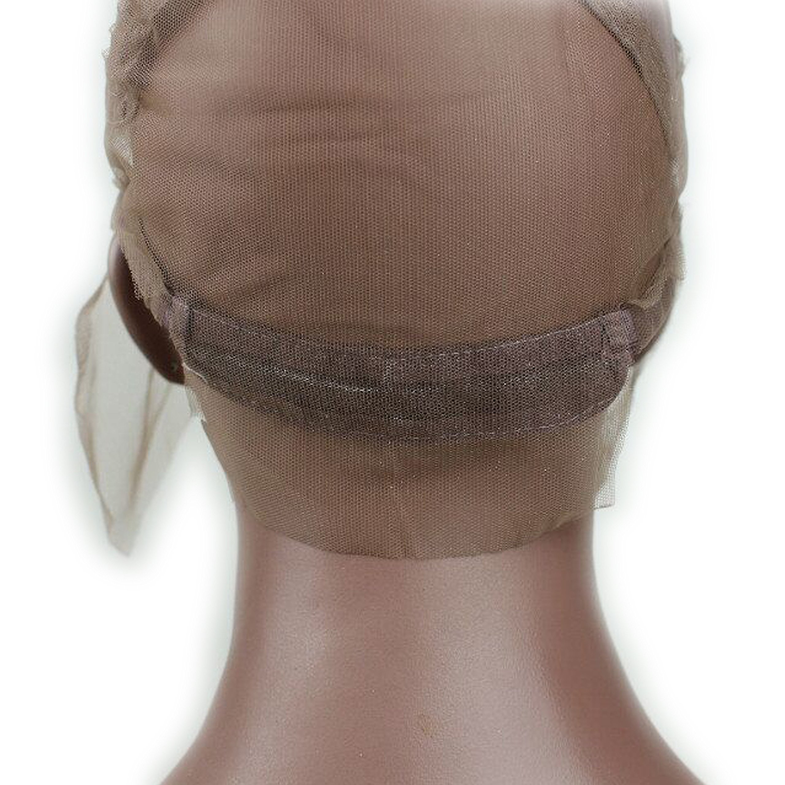 Dreambeauty Full Lace Wig Cap for Making Wigs Swiss and French Lace Hair Net with ear to ear Stretch Medium Brown Color for Wig Making (Full Lace Cap with Adjustable Straps) by Dream Beauty (Image #7)