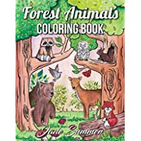 Forest Animals: An Adult Coloring Book with Adorable Woodland Creatures, Delightful Fantasy Elements, and Peaceful Nature Scenes