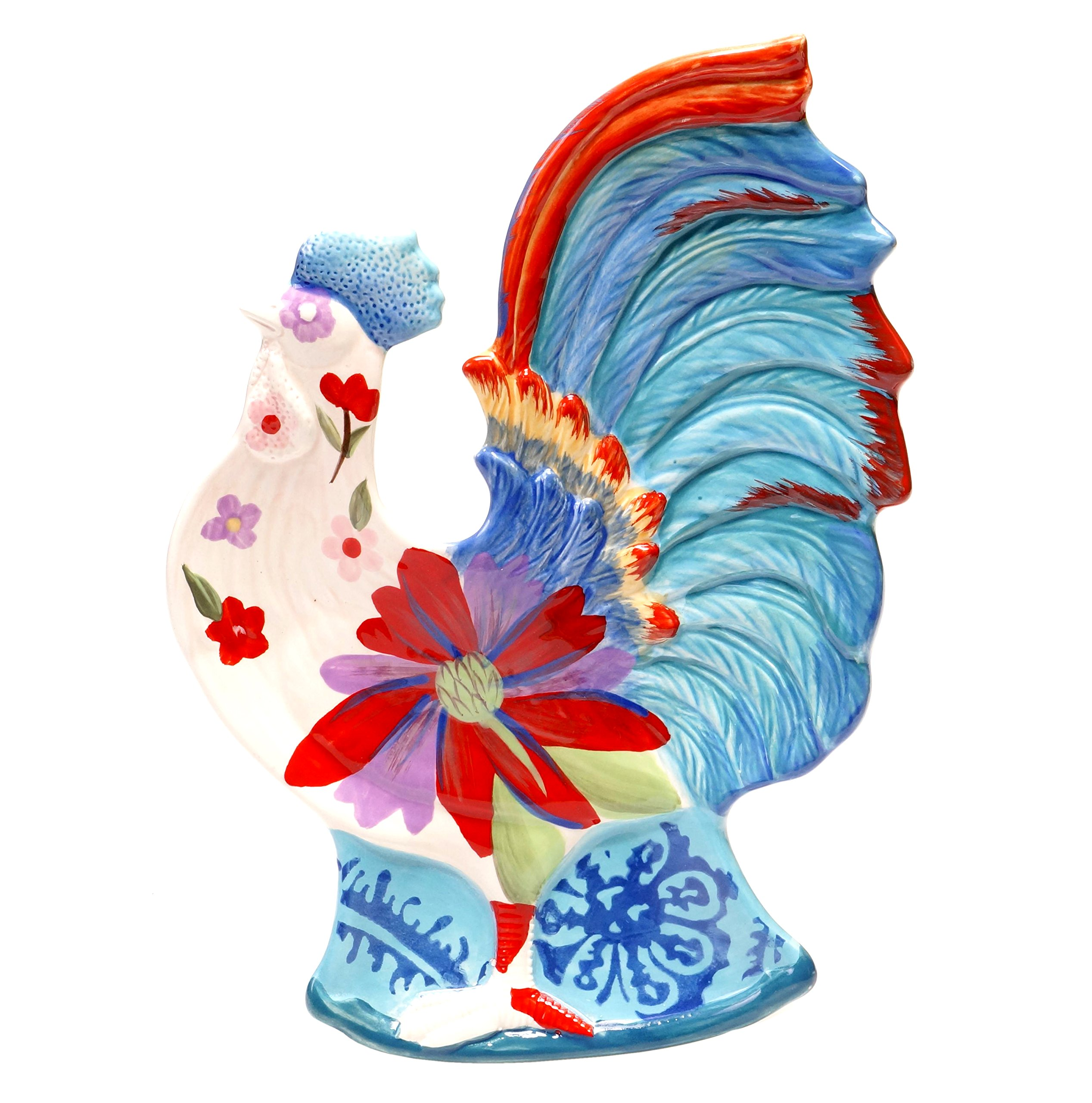 Tracy Porter for Poetic Wanderlust Scotch Moss 3-D Rooster Candy Plate