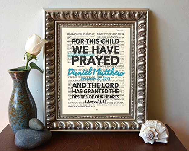 Amazon.com: Custom Vintage Bible verse page PERSONALIZED For this ...