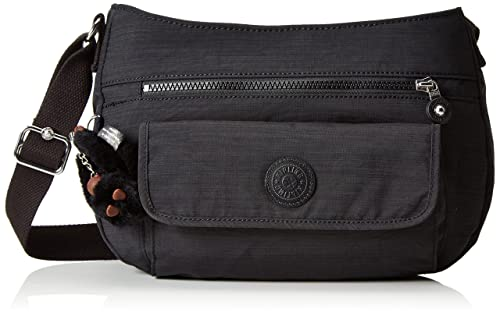 Kipling Syro, Women's Cross-Body Bag, Schwarz (Dazz Black), One