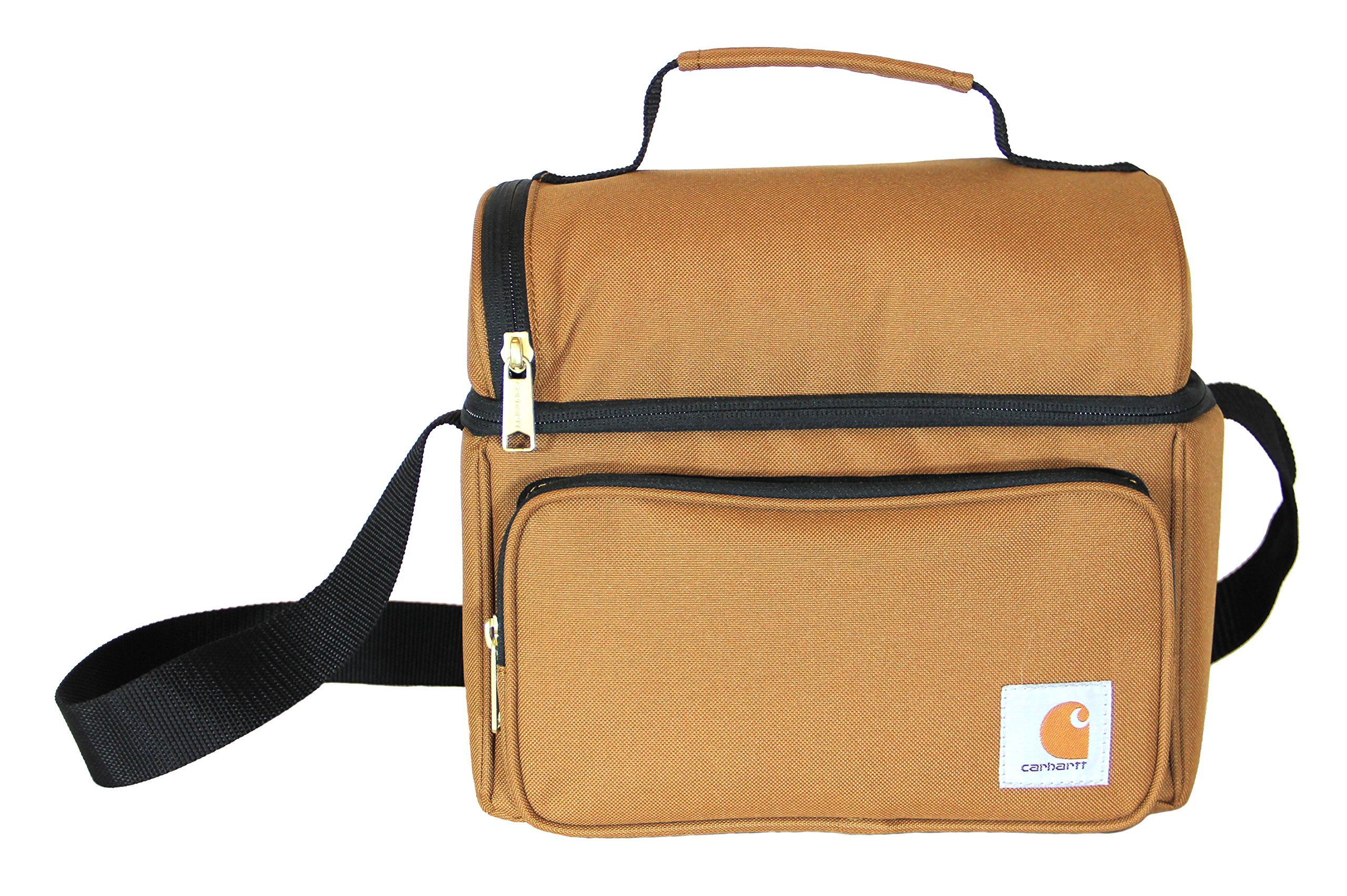 fe180ce5dc7 Carhartt 35810002 Deluxe Dual Compartment Insulated Lunch Cooler Bag ...