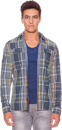 SIX VALVES Camisa Cuadros Maryland Azul/Naranja/Verde L: Amazon.es: Ropa y accesorios
