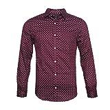 NUTEXROL Men's Casual Slim Fit Cotton Polka Dots