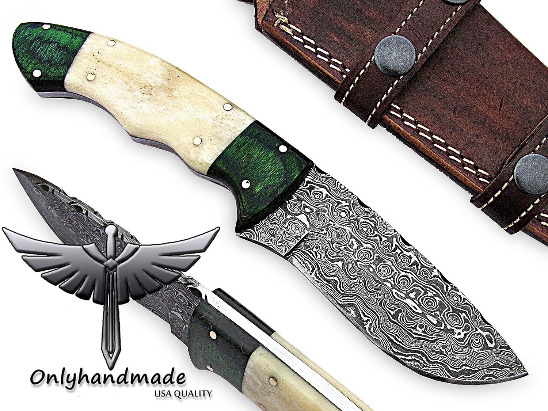 onlyhandmade Hermoso Cuchillo de Damasco Hecho de Acero de ...