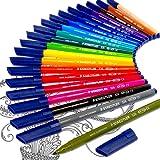 Staedtler Noris Club Fibre Tip Felt Tip Pens 326 - Limited Edition Adult Colouring Felt Tips Wallet of 20