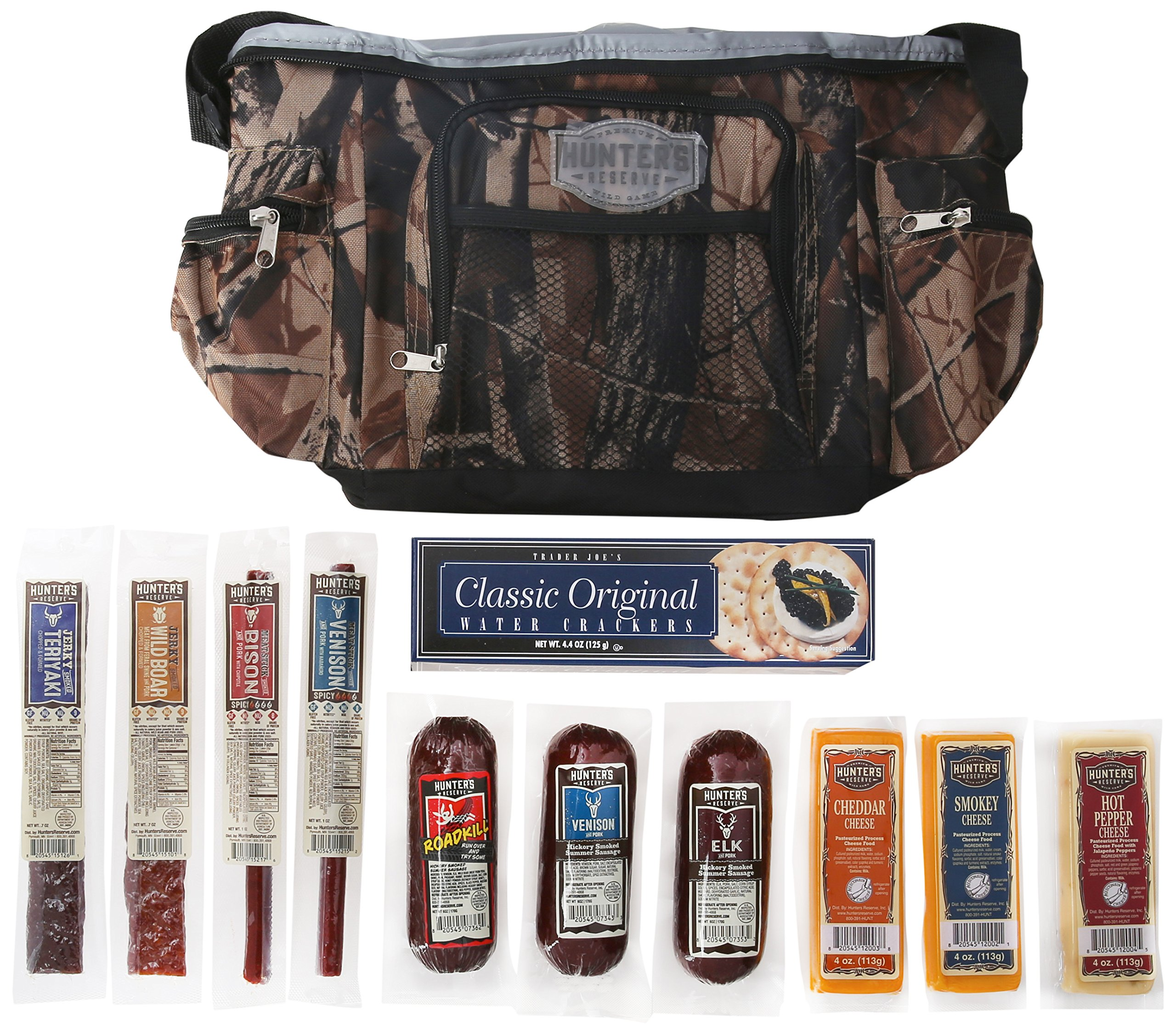 Hunters Reserve ''Wild Game'' Camo Cooler Bag with Assorted Premium Meats & Cheeses, 50 Ounce