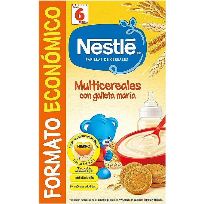 Nestlé - Multicereales con galleta María - Papilla de cereales instantánea de fácil disolución - 500 g