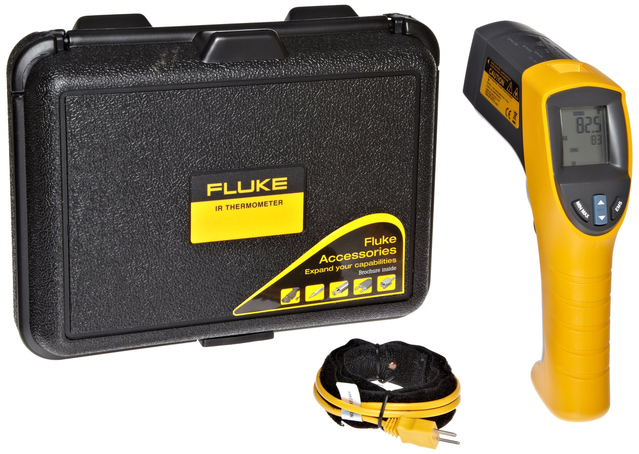 Fluke 561 HVAC Pro Infrared Thermometer, 2 AA Battery, -40 to +1022 Degree F Range with a NIST-Traceable Calibration Certificate with Data