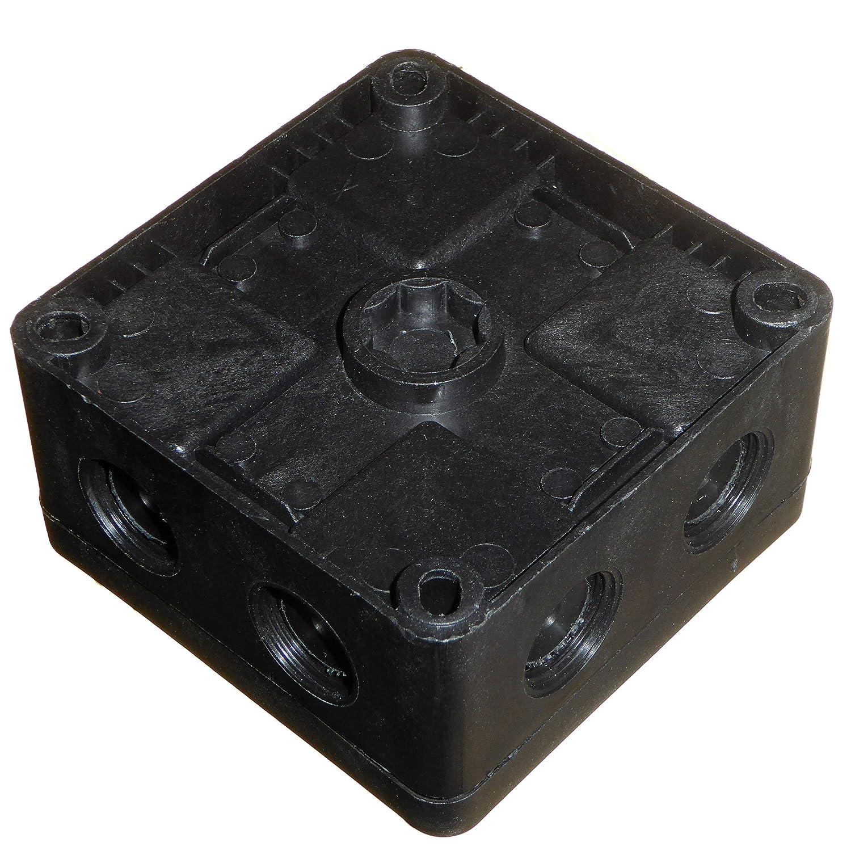 Caja de conexiones para exteriores IP66 resistente al agua 91 mm x 47 mm con bloques de conectores y amortiguadores de color negro 2 unidades