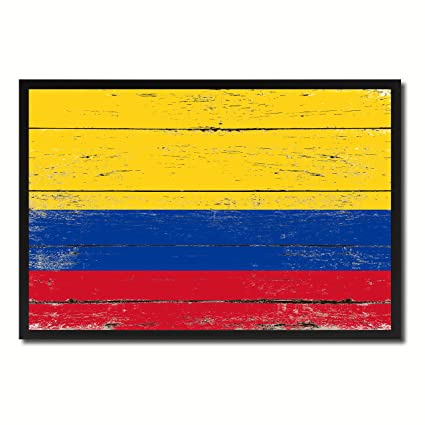 Amazon Colombia National Country Flag Shabby Chic Canvas Print
