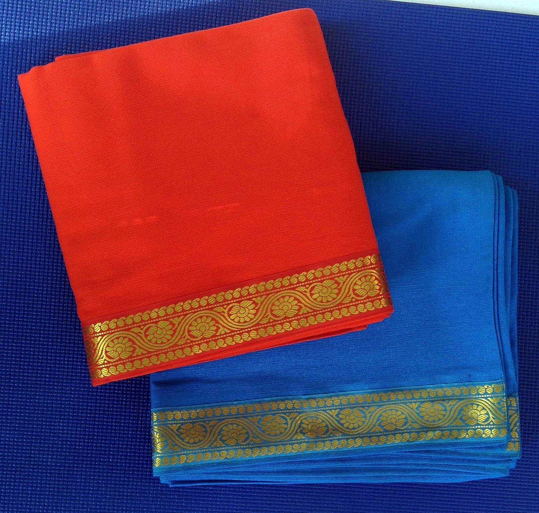 Yoga Malai - Manta para yoga (algodón, bordado) naranja ...