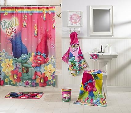Super Cute And Adorable Trolls Kids 5 Piece Bathroom In A Bag SetMakes Bath
