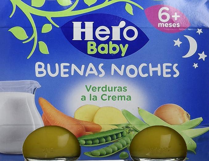 Hero Baby Buenas Noches Verduras a la Crema - Paquete de 2 x 190 gr - Total: 380 gr: Amazon.es: Alimentación y bebidas
