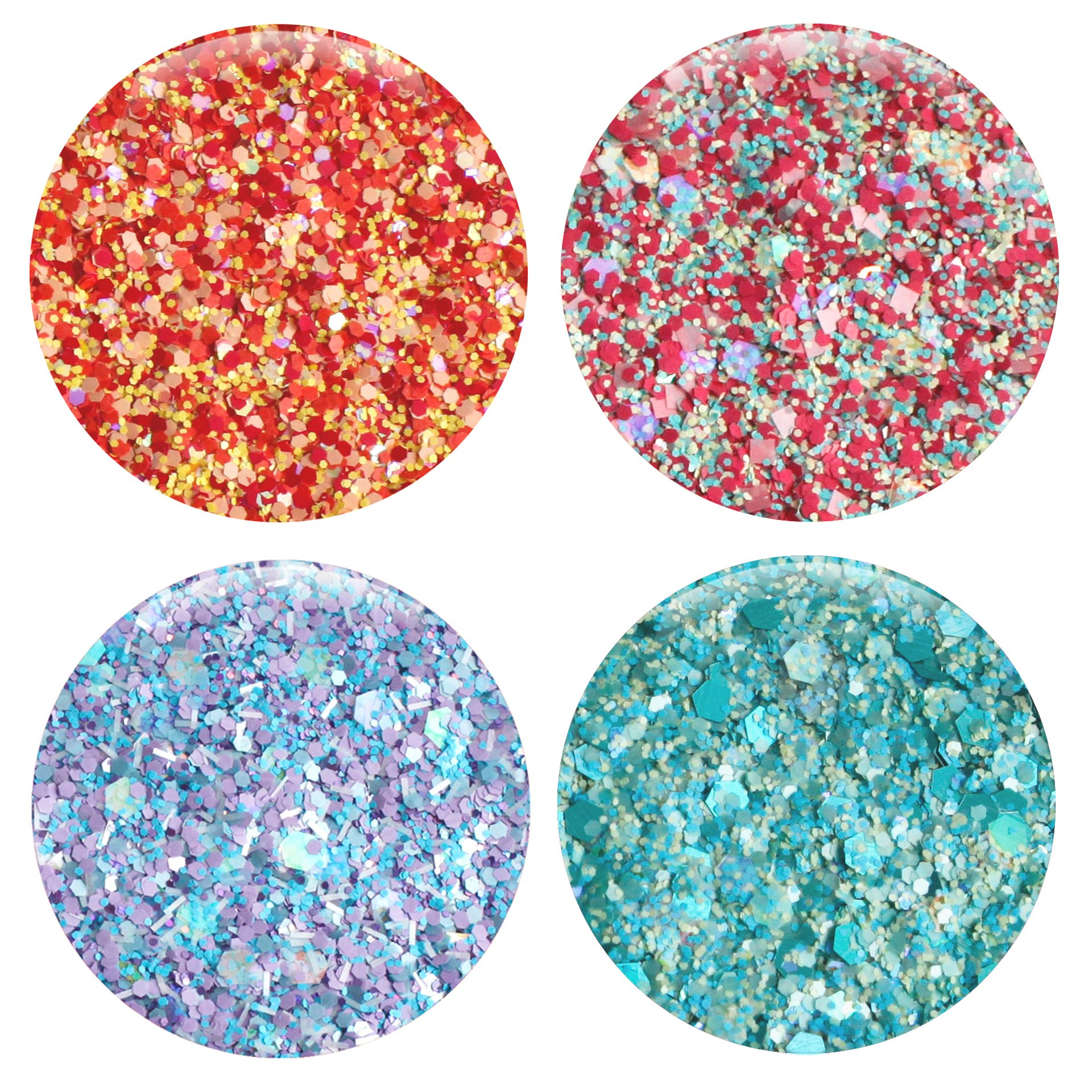 Mixed Glitter 20 Piece Kit - Includes Solvent Resistant Dust, Powder, Hexagon, Holographic, Matte Glitters - Great for Nail Art Polish, Gels, Art and Crafts, Paints & Acrylics Supplies - 1/4 OZ Jars by Glitties (Image #2)