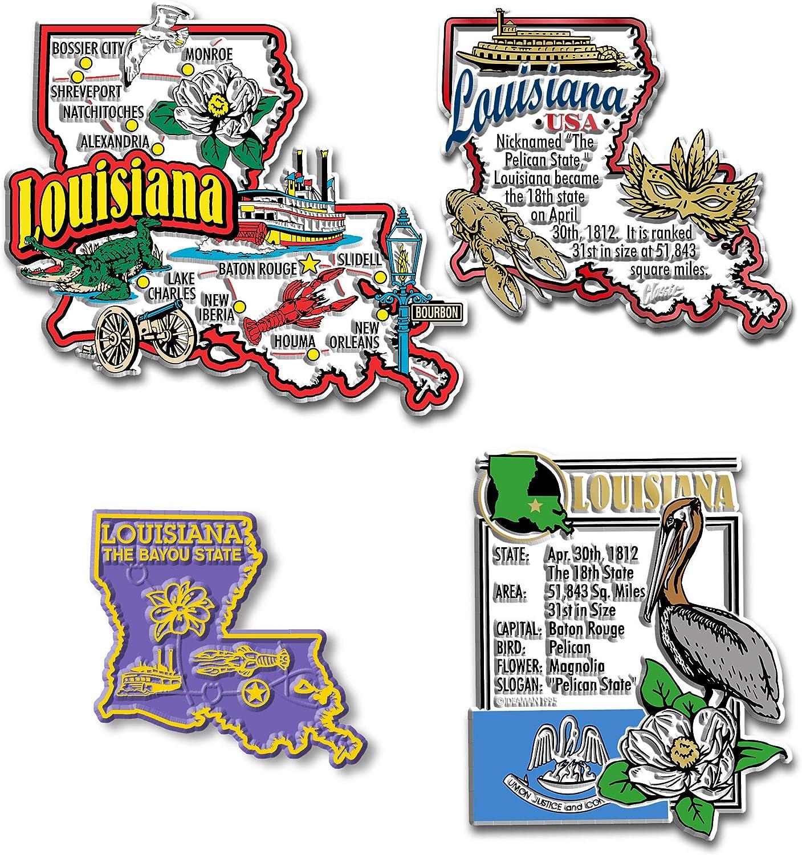 Louisiana Four-Piece State Magnet Set