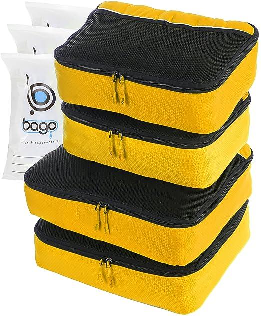 162 opinioni per 4Pz Bago Cubi Di Imballaggio- Set per Viaggi (2+2-Yellow)+ 6Pz Sacchetti