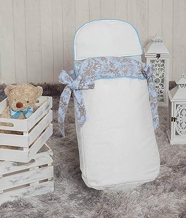 Babyline Toile - Saco de 3 usos para capazo y silla, color azul