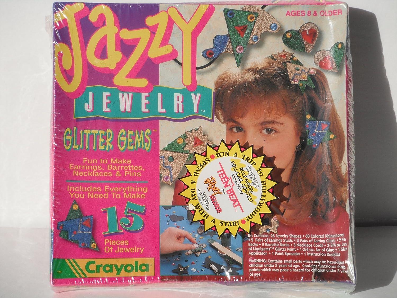 JAZZY JEWELRY GLITTER GEMS 1993 by Crayola Binney and Smith Inc.