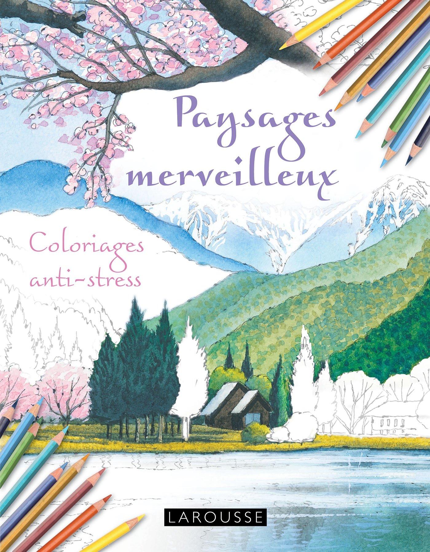 Amazon Cahiers coloriages paysages merveilleux Collectif Livres