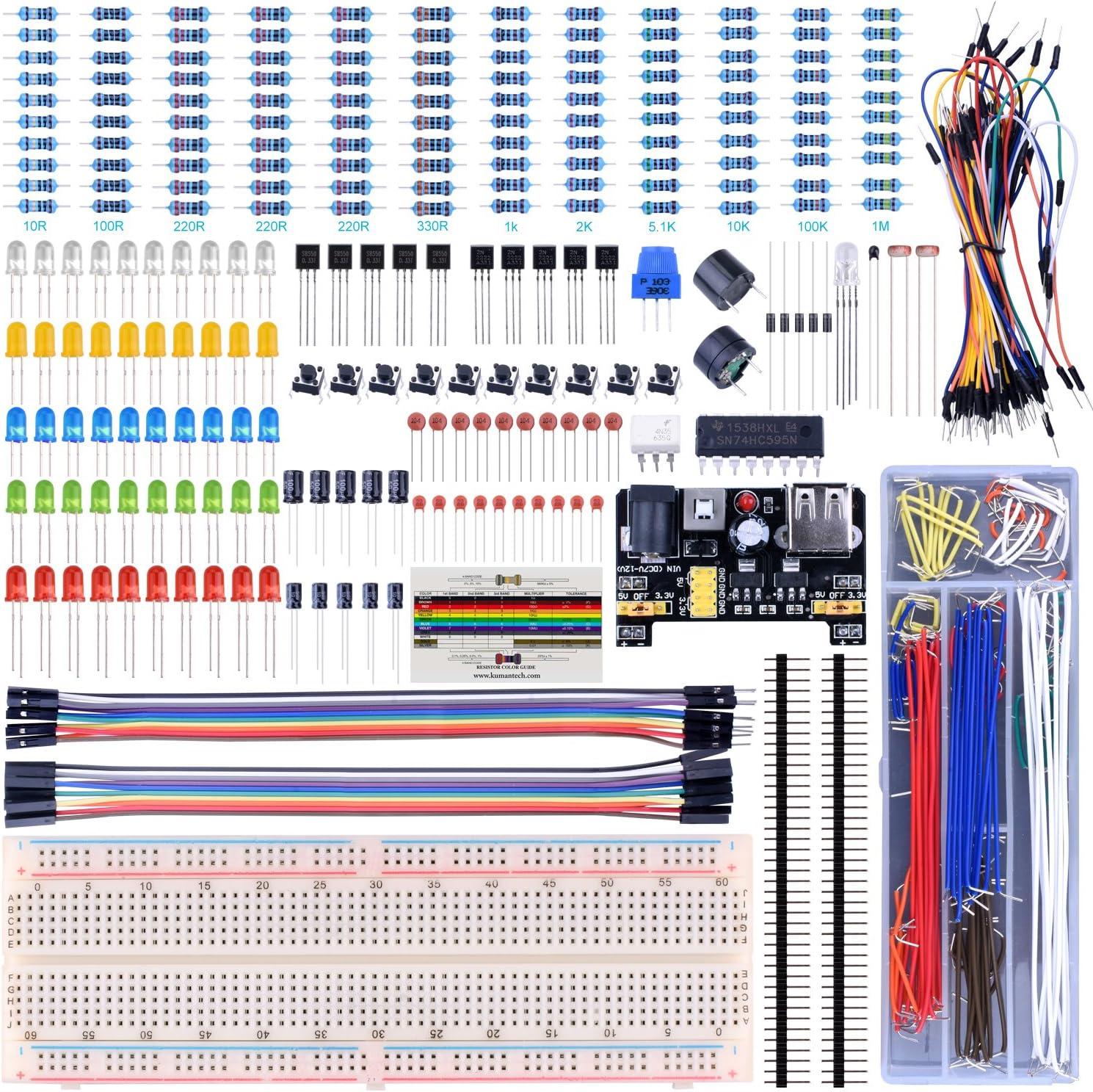 UNIROI Kit de Iniciación Compatible con ArduiIDE Básico con Tutorial (UA001)