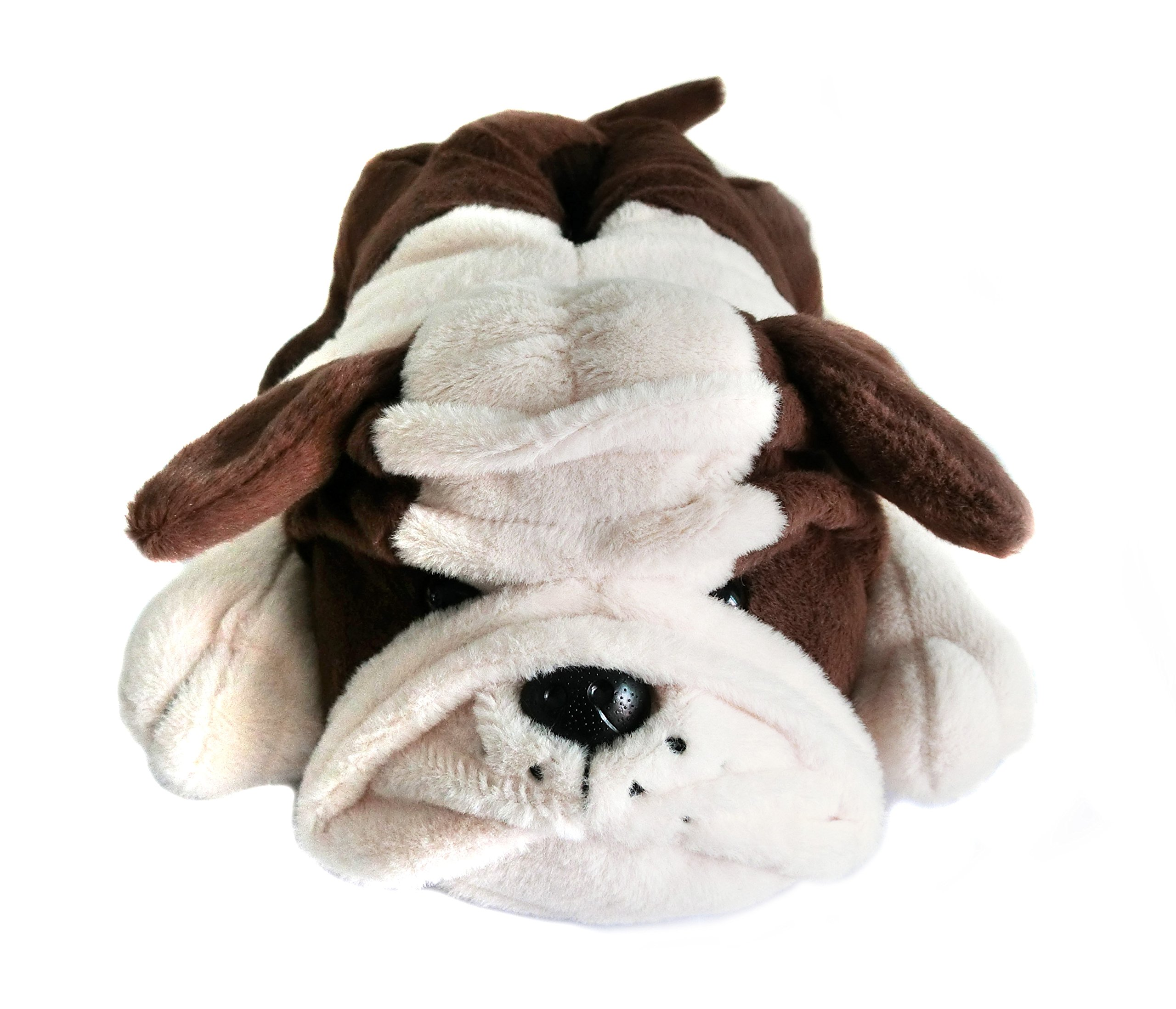 Fuzzy Winter Indoor Animal Bulldog Slippers for Adult and Kid, Bull Dogs (US Women Size 7-9, Coffee Bulldog) by Onmygogo (Image #4)