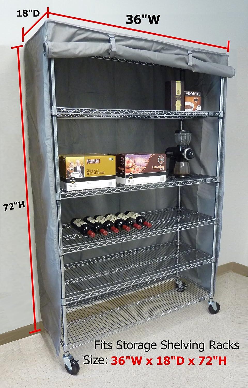 Amazon.com: Storage Shelving unit cover, fits racks 36\