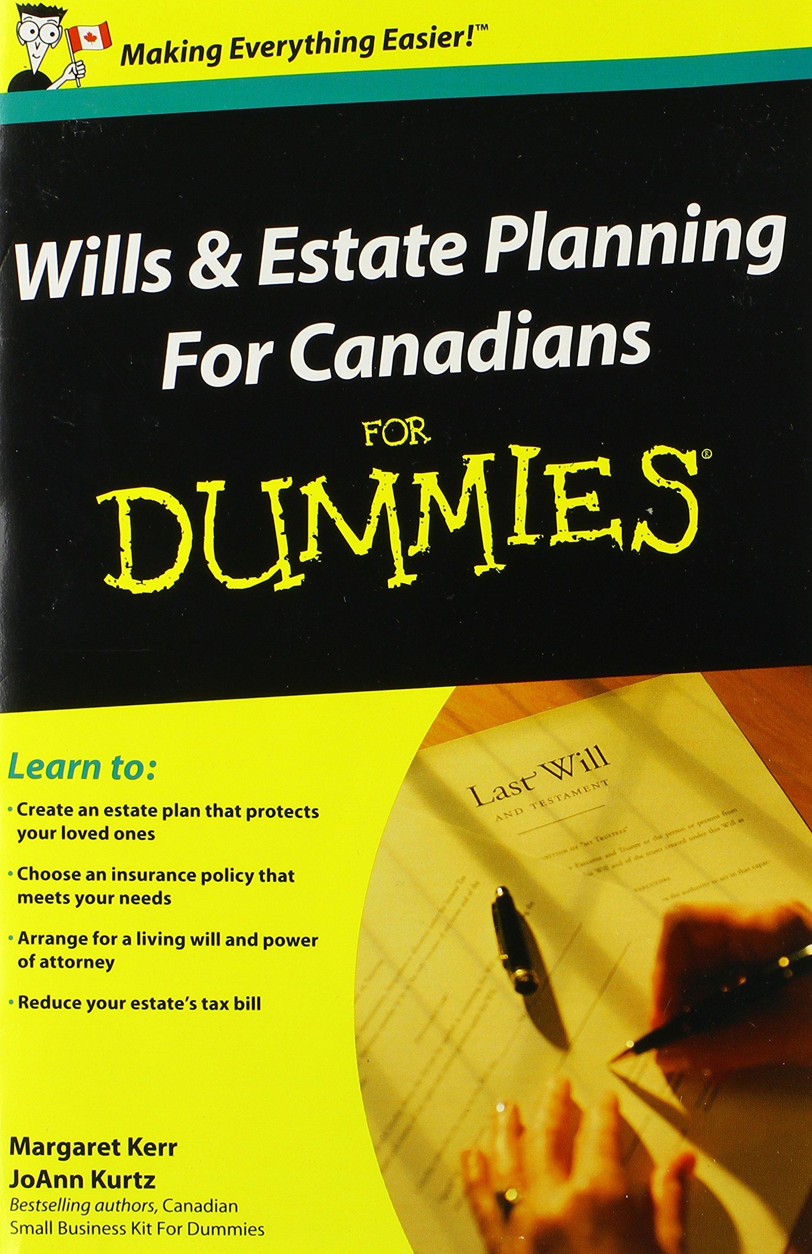 wills and estate planning for canadians for dummies kerr margaret kurtz joann