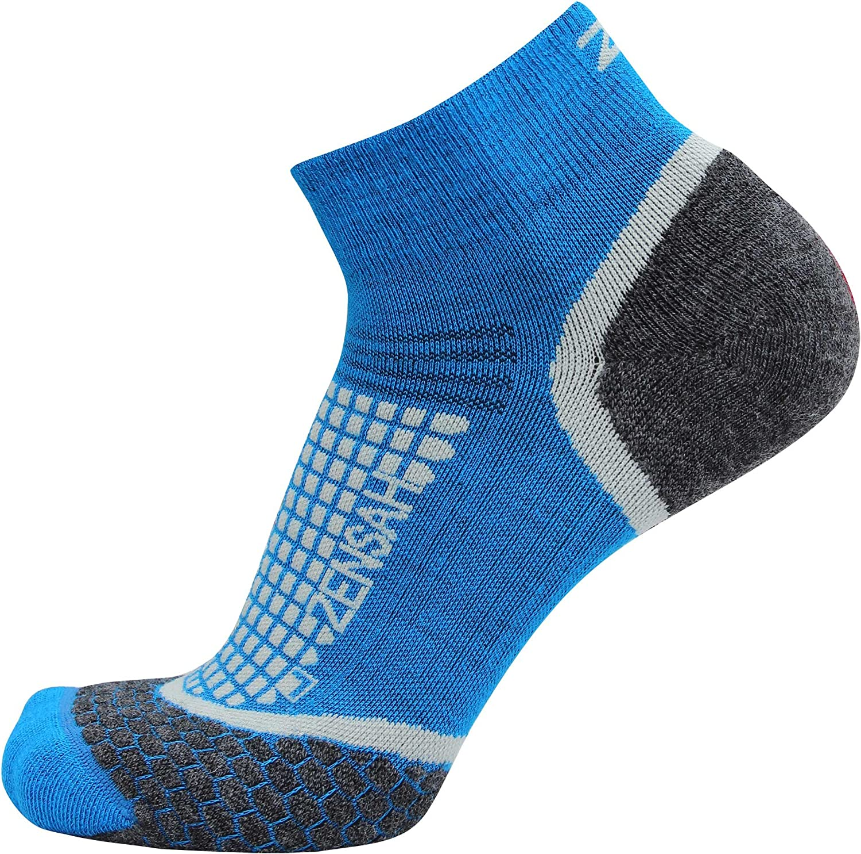 Zensah Wool Running Socks Anti-Blister Moisture Wicking Comfortable Grit Ankle Athletic Sport Sock