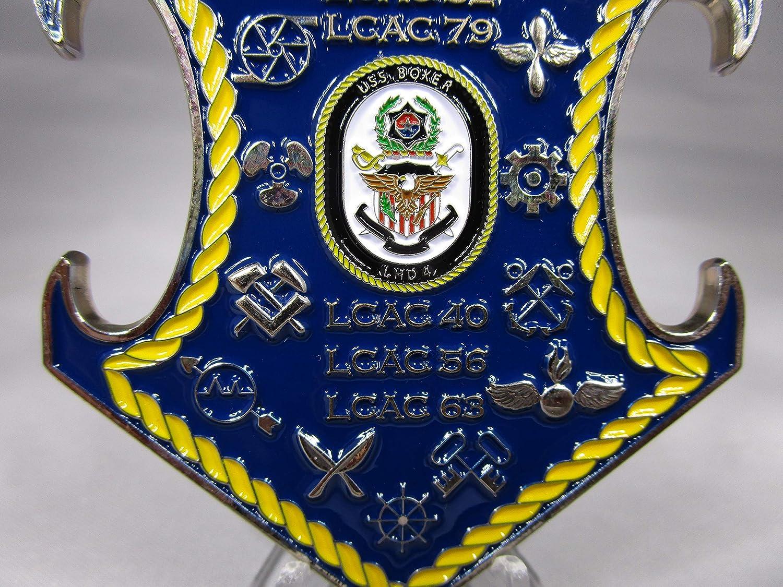 Assault Craft Unit 5 USS Boxer /& USS New Orleans LCAC USMC USN Challenge Coin