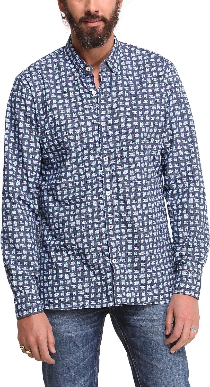 Desigual Camisa Hombre Mito Azul Marino M: Amazon.es: Ropa y accesorios