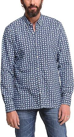Desigual Camisa Hombre Mito Azul Marino M: Amazon.es: Ropa y ...