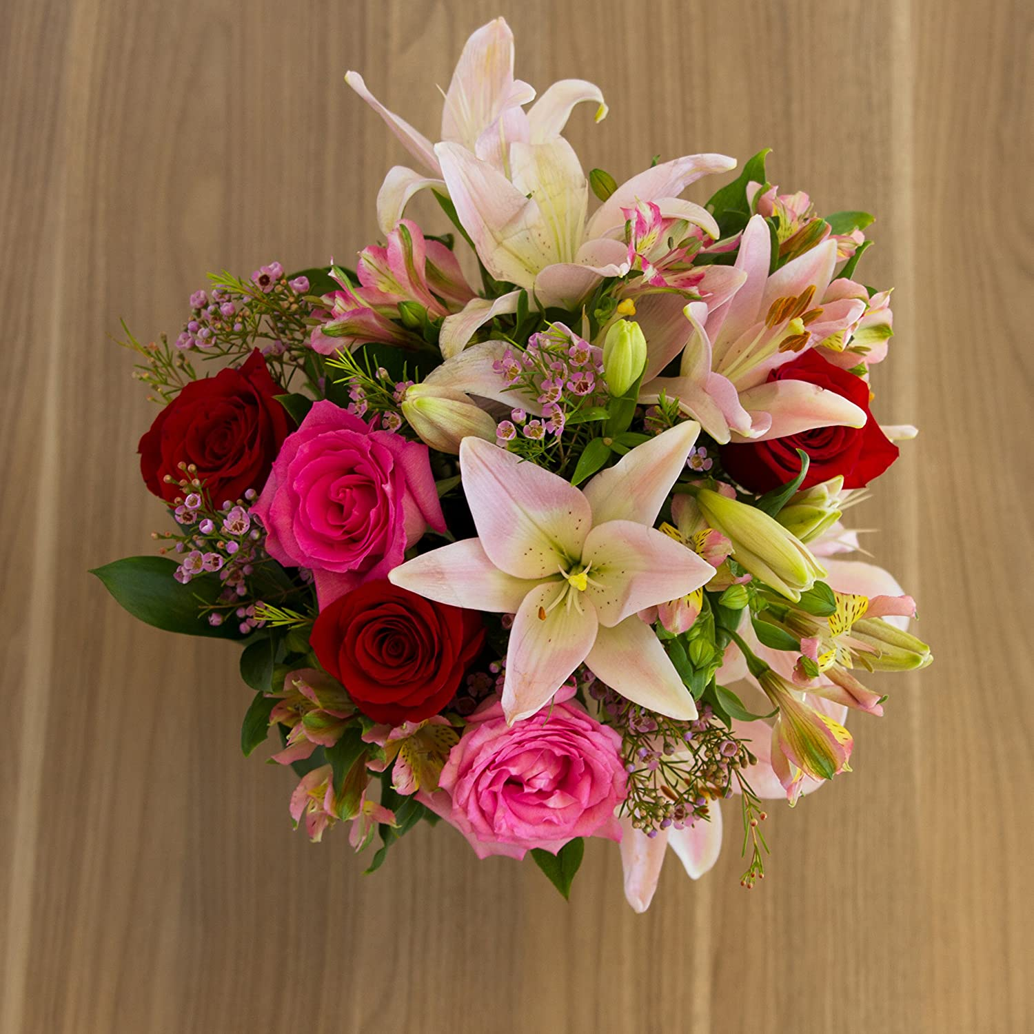 Amazon Flowers Rose Lily Celebration Free Vase Included