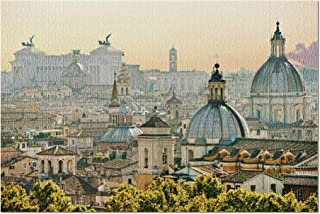 product image for Roman Rooftops with Capital Building Rome, Italy A-91435 (Premium 1000 Piece Jigsaw Puzzle for Adults, 18x24, Made in USA!)
