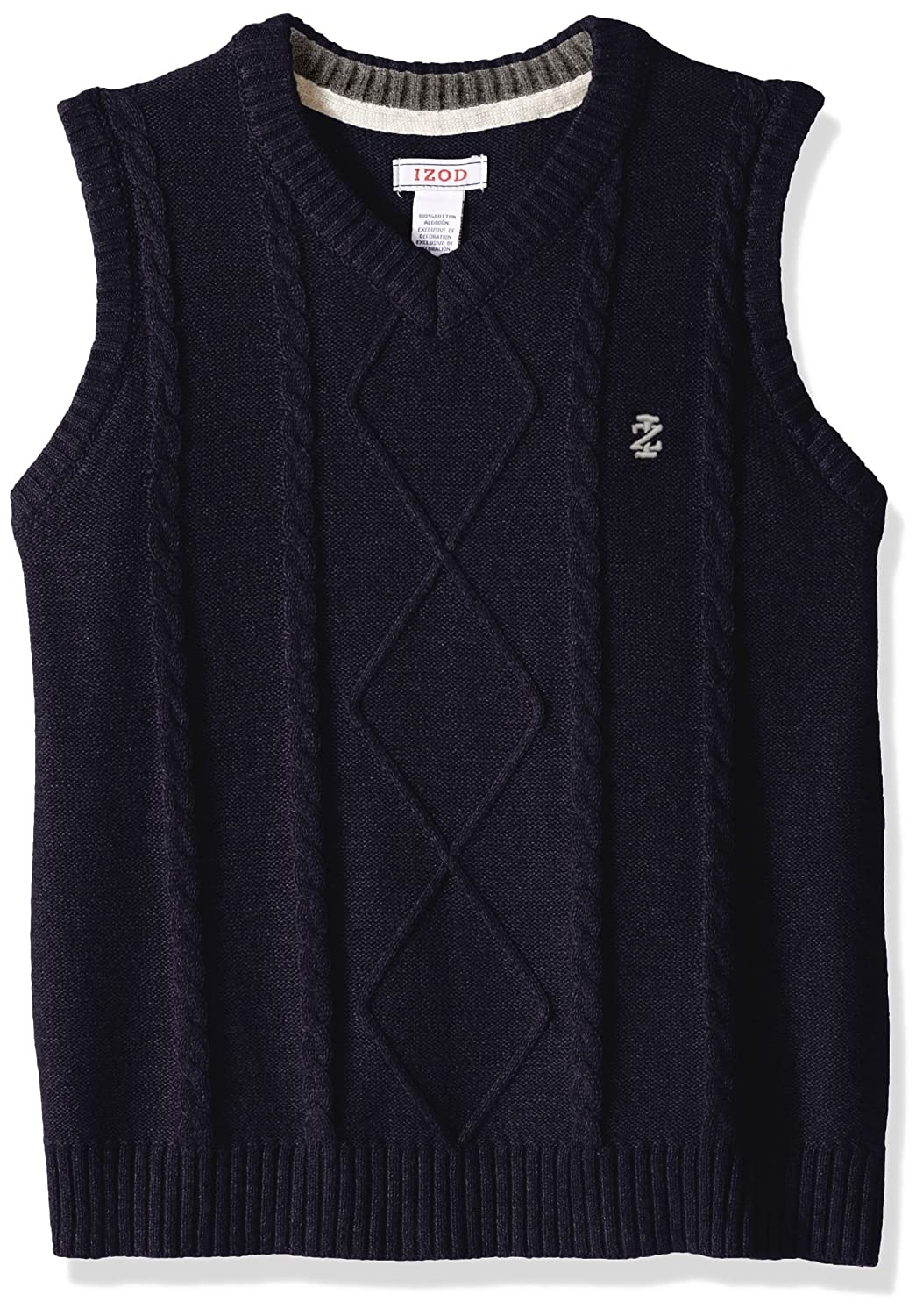 IZOD Boys' Big Sweater Vest Medium Grey Heather Small IZOD Children's Apparel Z813077