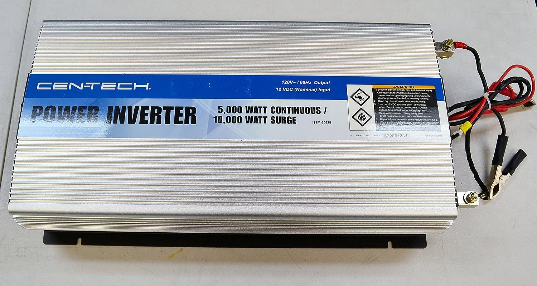 Amazon.com: Cen-Tech 60635 5000-Watt Continuous/10,000-Watt Peak Power  Inverter: Home Audio & Theater