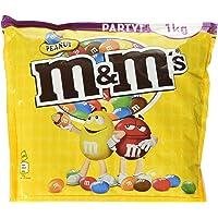M&M'S Peanut / Geröstete Erdnüsse ummantelt von Milchschokolade / Bunter Knabberspaß für Groß und Klein (1 x 1 kg Beutel)