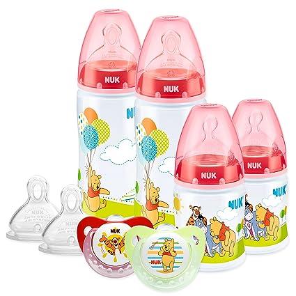 NUK - Set biberones, tetinas y chupetes Winnie The Pooh: Amazon.es: Bebé