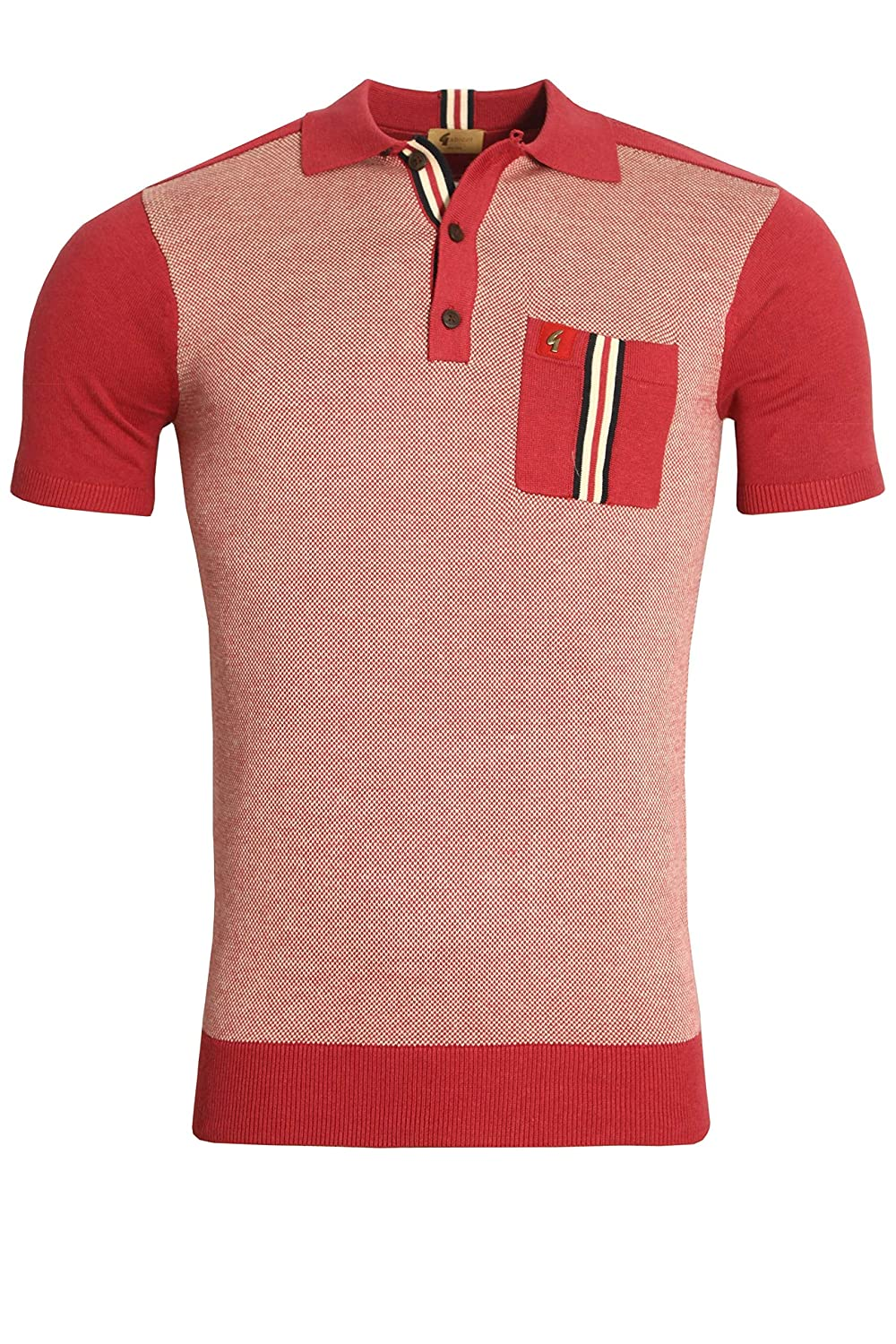 Gabicci Belair Jacquard Pocket Polo Shirt | Grenadine X-Large ...