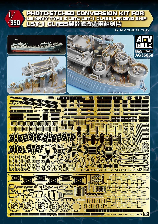 AFVクラブ 1/350 LST-1 戦車揚陸艦ディテールアップ用エッチングパーツ プラモデル用パーツ AG35050 B07NDJJKNW