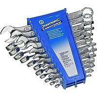 Silverline 633470 ringnyckel, 22 st. set 6–22 mm och 1/4–7/8 tum