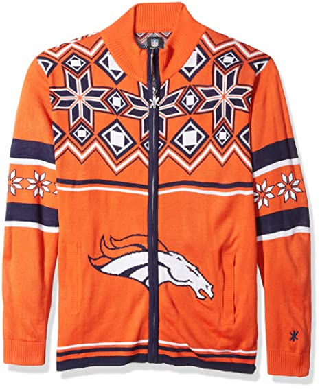 2b54a81c831 Amazon.com   NFL Split Logo Ugly Sweater Jacket   Sports   Outdoors