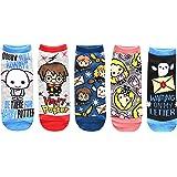 Harry Potter Dobby Luna Lovegood Hedwig Juniors/Womens 5 Pack Ankle Socks Size 4-10