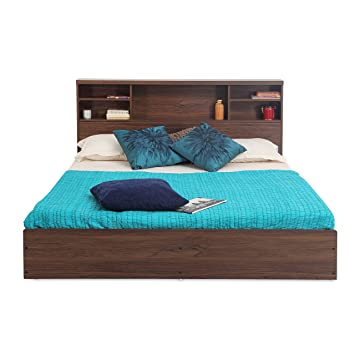 Forzza Westin Queen Size Bed (Walnut)